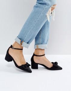 Туфли на блочном каблуке с бантом New Look - Черный
