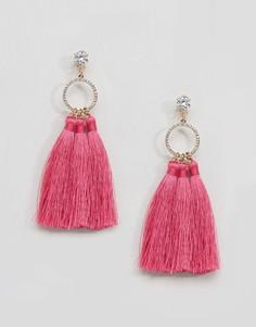 Серьги-подвески с кисточками River Island - Розовый