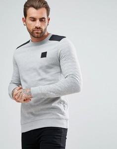 Серый стеганый свитер с узором River Island - Серый