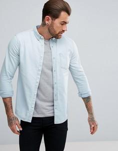 Светлая джинсовая рубашка классического кроя River Island - Синий