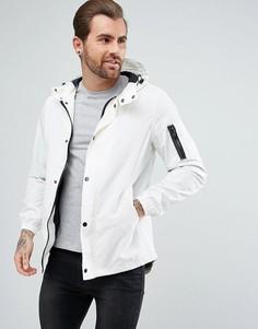 Белая непромокаемая куртка с карманом MA1 River Island - Белый