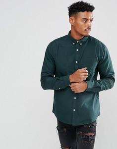Темно-зеленая оксфордская рубашка классического кроя River Island - Зеленый