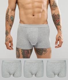 Набор из 3 серых боксеров-брифов New Look - Серый