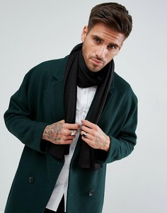Черный трикотажный шарф New Look - Черный