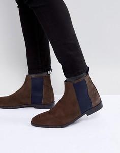 Коричневые строгие ботинки челси River Island - Коричневый