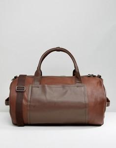 Коричневая сумка со вставками River Island - Рыжий