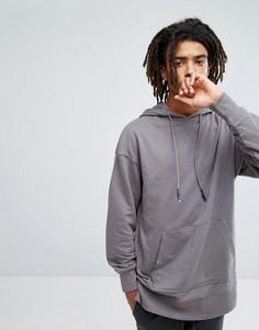 Серый свитшот с заниженной линией плеч New Look - Серый