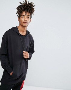 Черный свитшот с заниженной линией плеч New Look - Черный