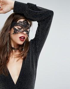 Кружевная маска для глаз River Island Halloween - Черный