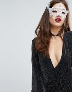 Кружевная маска для глаз River Island Halloween - Белый