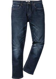Трикотажные джинсы Regular Fit Straight, cредний рост (N) (темно-синий) Bonprix