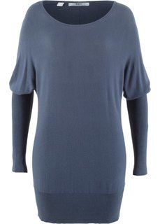 Пуловер в стиле оверсайз (индиго) Bonprix