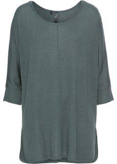 Вязаный пуловер (зеленый) Bonprix