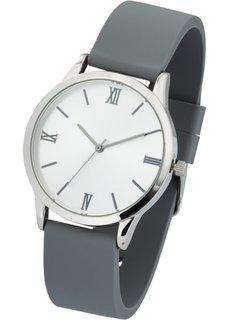 Часы на силиконовом браслете (серебристо-серый) Bonprix