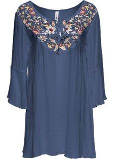 Туника с вышивкой (темно-синий) Bonprix