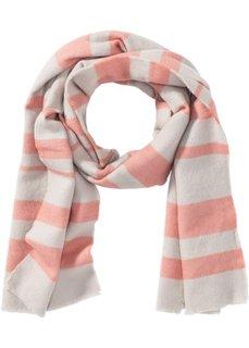 Полосатая шаль (персиковый/серебристый) Bonprix