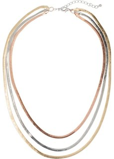 Трехцветная цепочка (розово-золотистый/серебристый/золотистый) Bonprix
