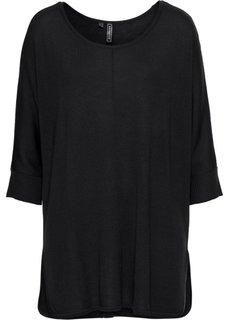 Вязаный пуловер (черный) Bonprix