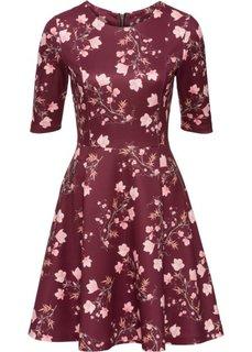 Платье из материала под неопрен (ярко-красный с принтом) Bonprix