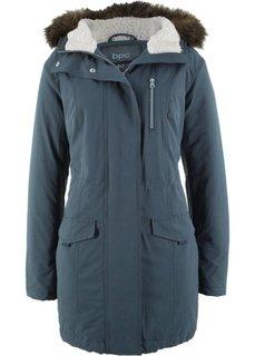 Куртка-парка с капюшоном с опушкой из искусственного меха (ночная синь) Bonprix