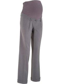 Широкие брюки для беременных (серый меланж) Bonprix