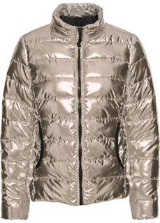 Стеганая куртка с металлическим отливом (золотистый) Bonprix