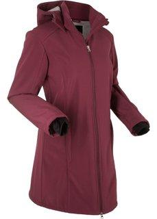 Функциональная куртка-софтшелл с плюшевой подкладкой (темно-бордовый) Bonprix