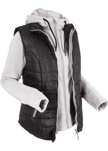 Жилетка с интегрированной флисовой курткой (черный)