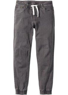 Брюки-стретч Slim Fit Straight без застежки (темно-серый) Bonprix