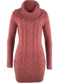 Вязаное платье (бордово-коричневый) Bonprix