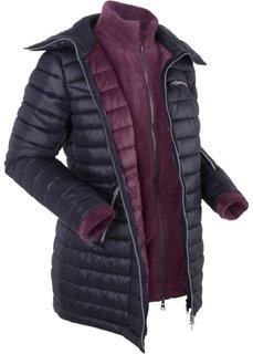 Стеганая куртка 3 в 1 с флисовой курткой (черный) Bonprix