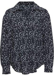 Блузка в стиле оверсайз (в горошек) Bonprix