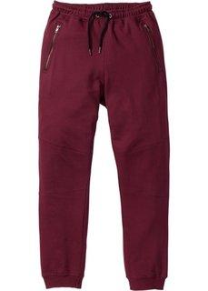 Трикотажные брюки Slim Fit (темно-бордовый) Bonprix