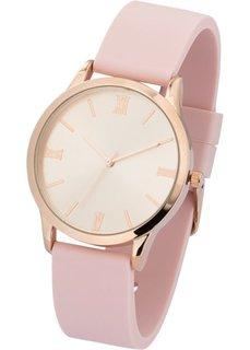 Часы на силиконовом браслете (нежно-розовый) Bonprix