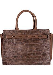 Офисная сумка с узором рептилии (коричневый) Bonprix