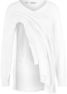Для будущих и кормящих мам: пуловер (кремовый) Bonprix