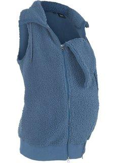 Флисовая жилетка для беременных с карманом для малыша (индиго) Bonprix