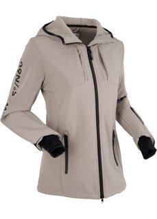Куртка софтшелл (серо-коричневый) Bonprix