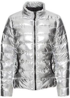Стеганая куртка с металлическим отливом (серебристый) Bonprix