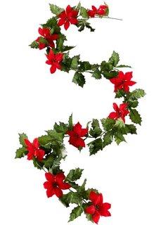 Гирлянда из цветов пуансеттии (красный/зеленый) Bonprix