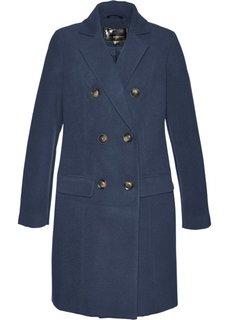 Пальто из искусственной шерсти (темно-синий) Bonprix