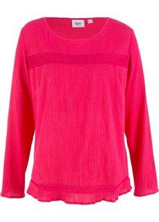 Туника с длинным рукавом (ярко-розовый гибискус) Bonprix
