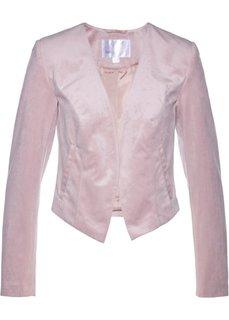 Бархатный блейзер короткого покроя (розовый матовый) Bonprix