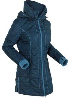 Удлиненная стеганая куртка (темно-синий) Bonprix