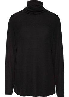 Нежный пуловер с высоким воротом (черный) Bonprix