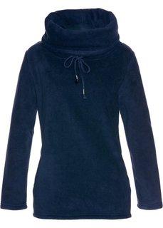 Флисовый пуловер (темно-синий) Bonprix