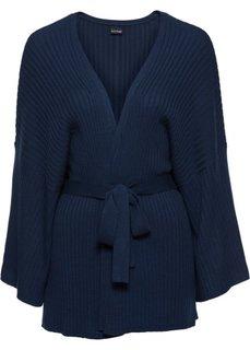 Вязаный кардиган-кимоно (темно-синий) Bonprix