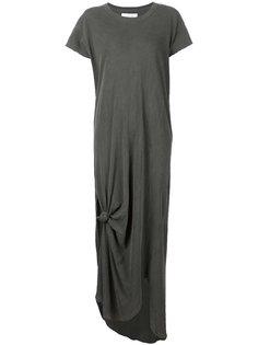 длинное платье-футболка с узлом The Great
