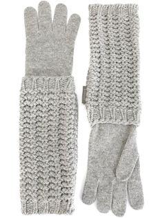 длинные вязаные перчатки  Moncler