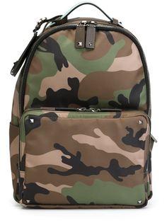 рюкзак с камуфляжным принтом  Valentino
